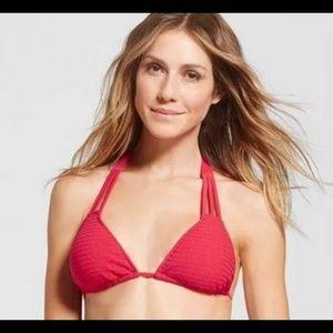 Med red triangle bikini top Mossimo Swimwear